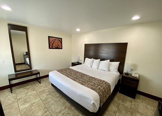 King pillow-top beds