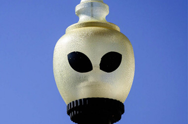 Alien Streetlights of Roswell